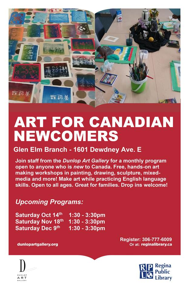 Art for Canadian Newcomers - free for the whole family at the Glen Elm Library.  No registration required! - Image 1