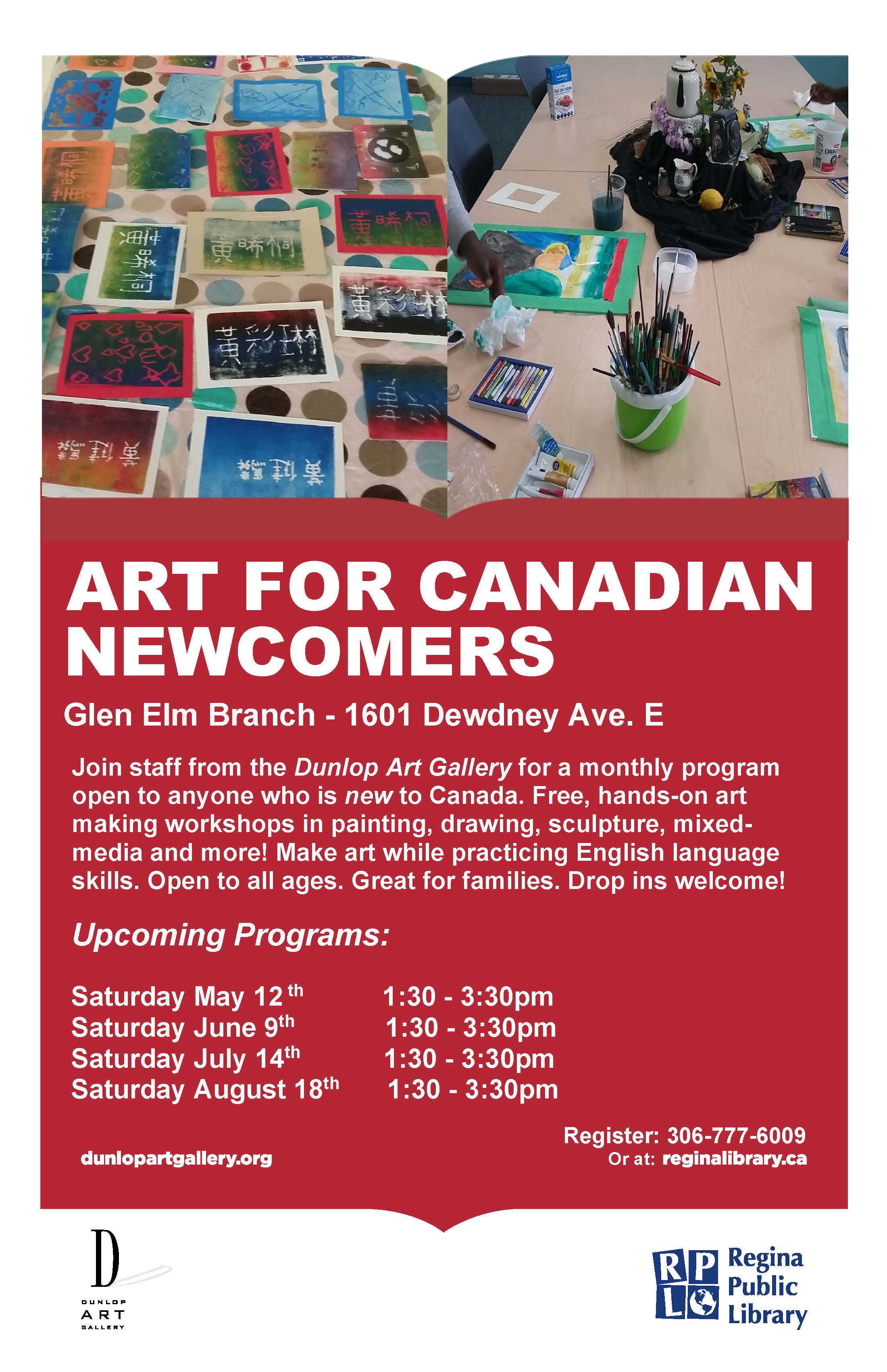 Art for Newcomers!  Free program at the Glen Elm Library.  Family Friendly! - Image 1
