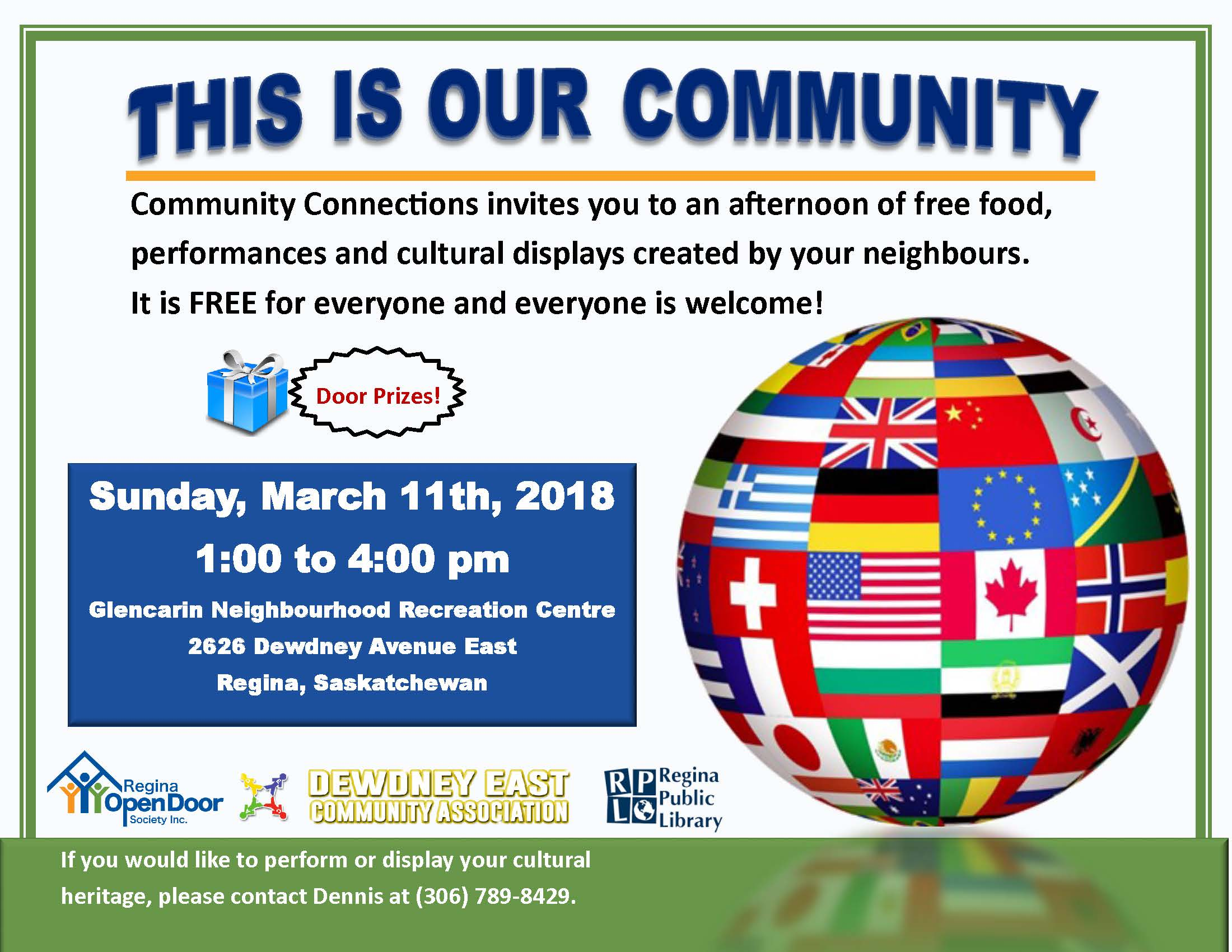 Celebrate Your Community!  March 11th at Glencairn Neighbourhood Rec Centre - Image 1