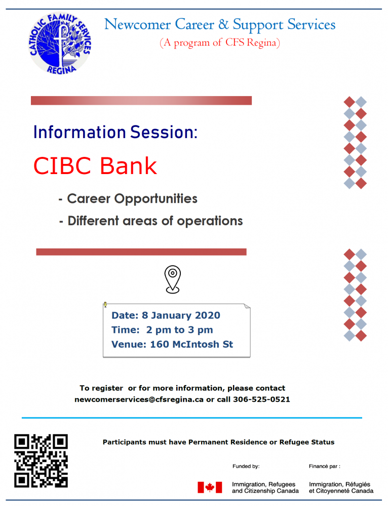 CIBC Bank Information Session (Including Career Opportunities)  - Jan. 8th