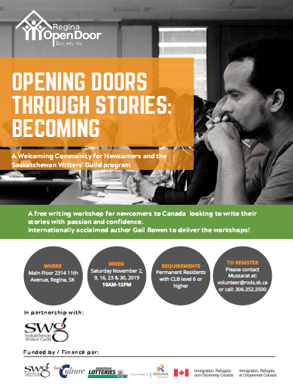 Creative Writing Workshop for Newcomers - Saturdays in November - Image 1