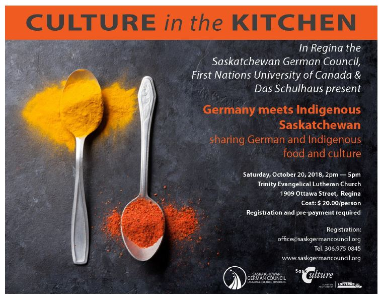 Culture in the Kitchen – Germany meets Indigenous Saskatchewan - Oct 20th  - Image 1