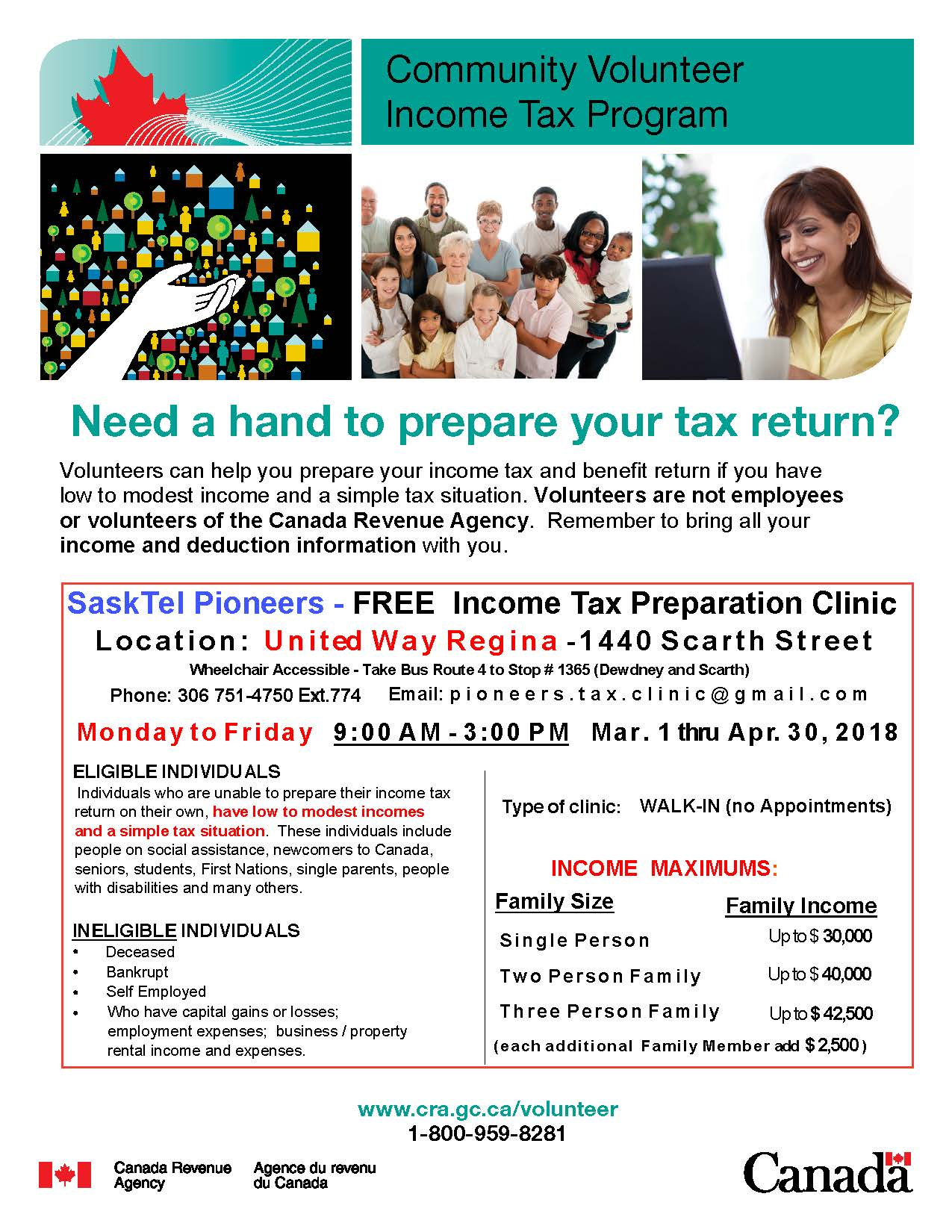 Do you need help with your income tax form?  Community volunteers can help!  Free program - Image 1