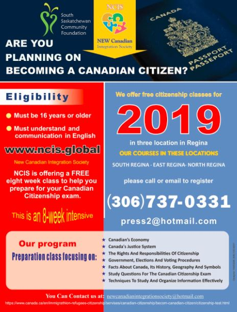 Free Citizenship Preparation Classes Available in 3 Locations in Regina!  - Image 1