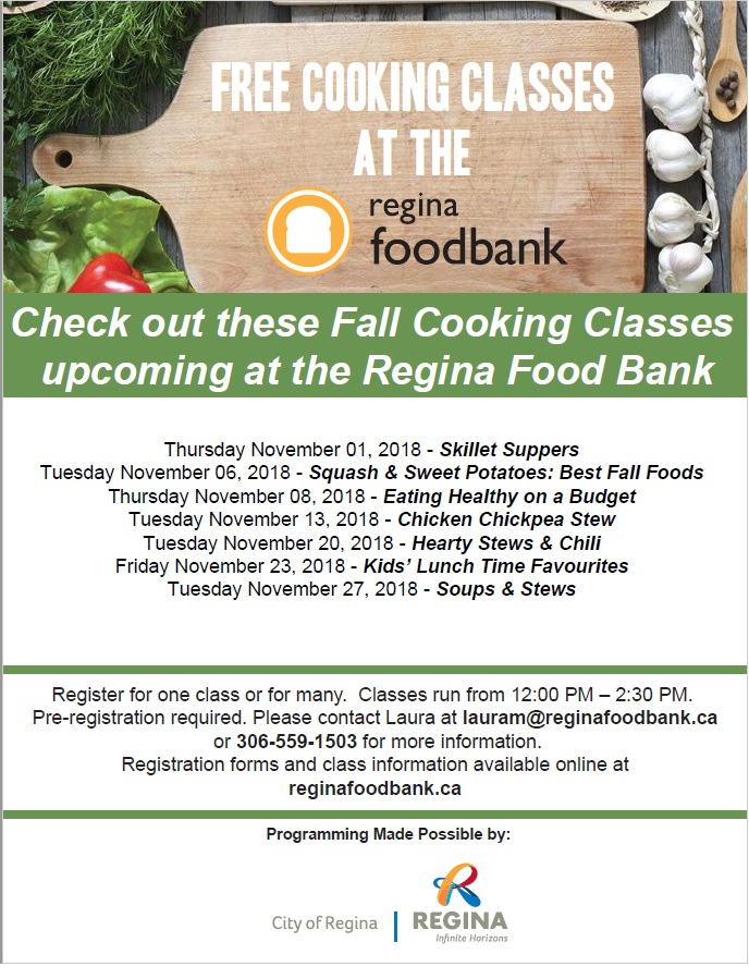 Free Cooking Classes - at the Regina Food Bank - Image 1