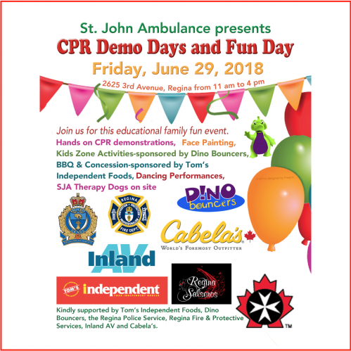 Free family fun on June 29.  St. John Ambulance CPR Demo and Fun Day  - Image 1