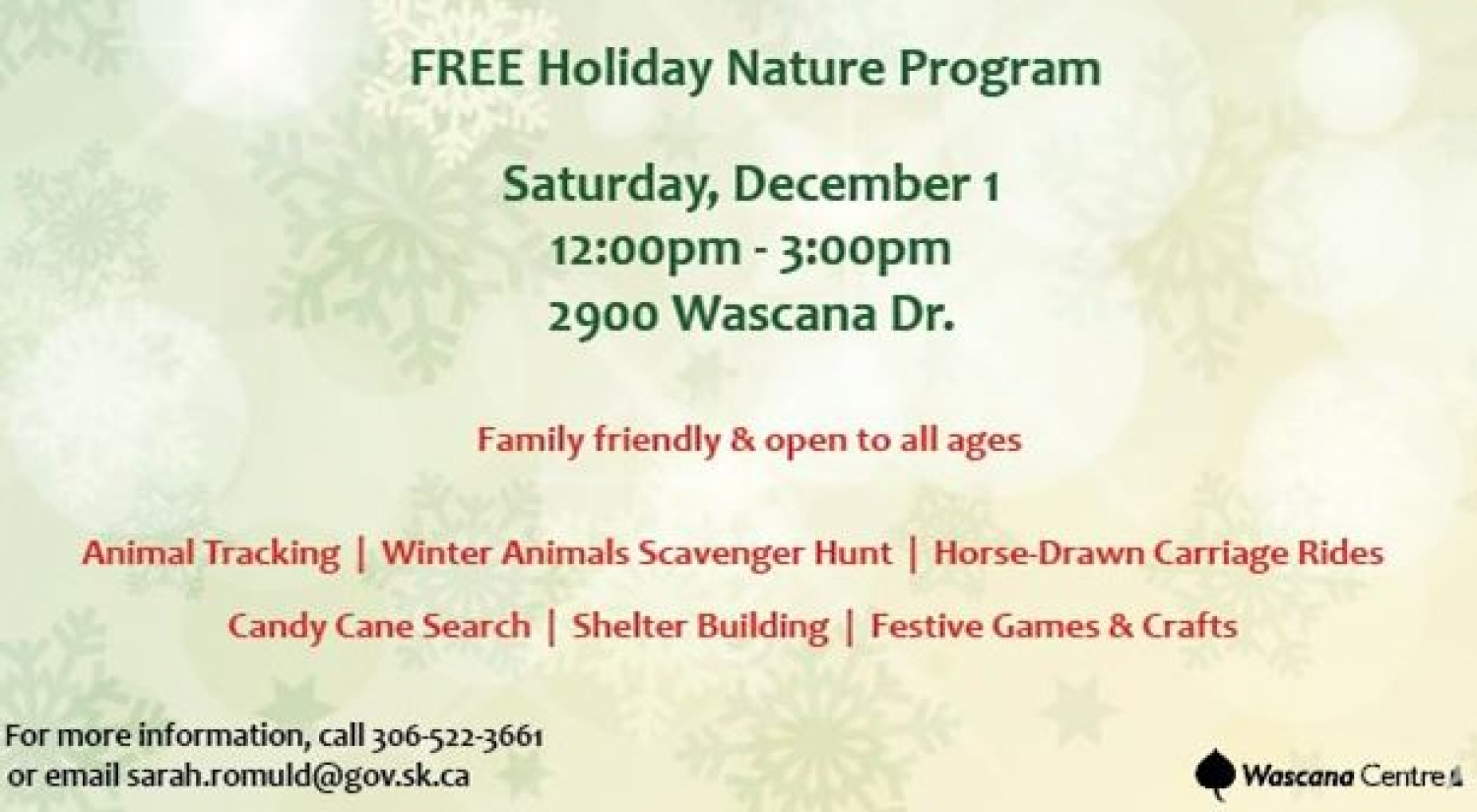Free Holiday Nature Program - Dec 1st