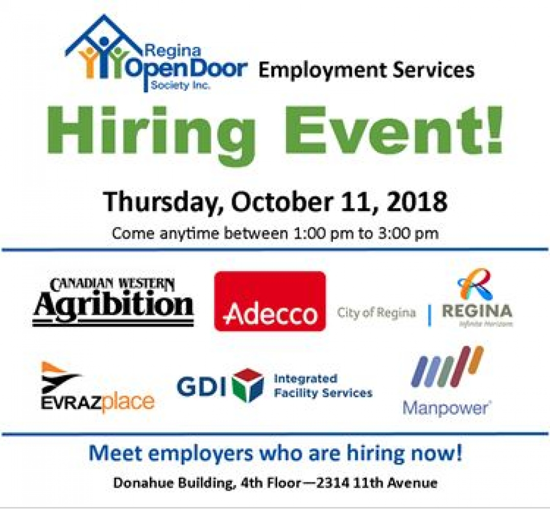 Hiring Event - Thursday, October 11th!