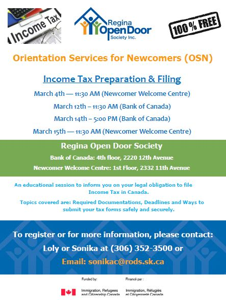 Income Tax Information Sessions Starting  Monday - Image 1