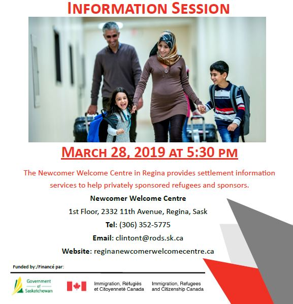 Information Session About Private Sponsorship of Refugees and Newcomer Settlement Services - Thursday, March 28th  - Image 1