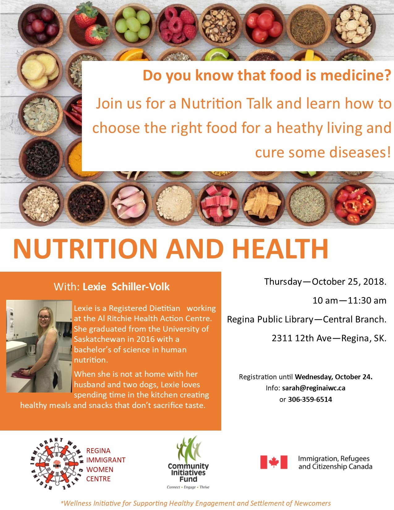 Nutritional Education Session - Oct 25th  - Image 1