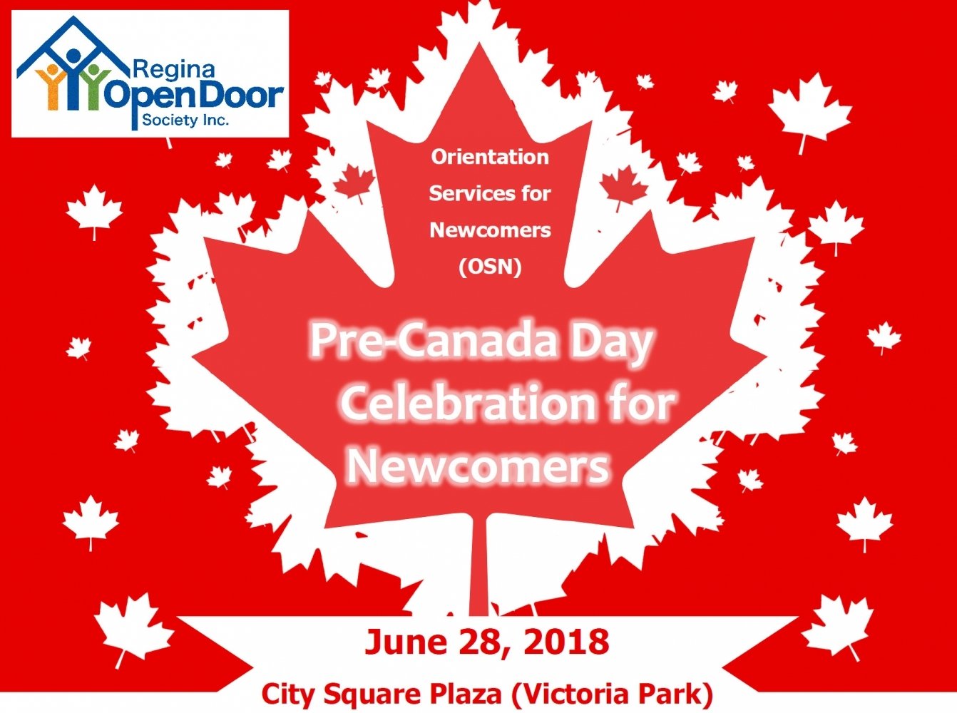 Pre-Canada Day Celebration for Newcomers!  June 28 - 10 am to 12 noon