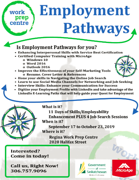 Program for Individuals Looking for Work - Starts Sept 17th - Image 1