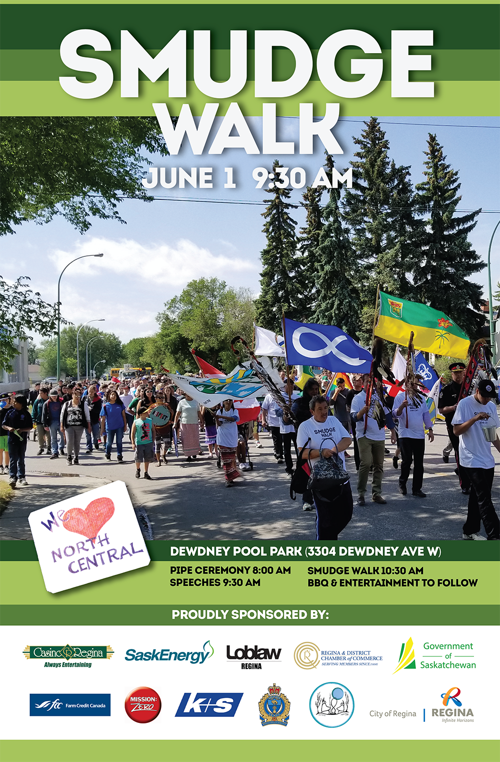 Regina's Annual Smudge Walk - Friday June 1, 2018!  Everyone welcome - Image 1