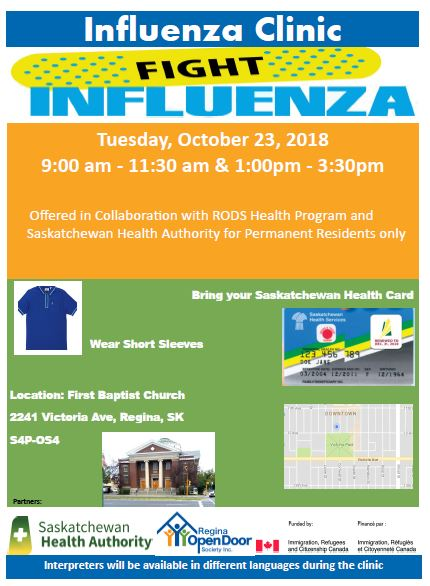 RODS Annual Flu Clinic - October 23rd - Image 1