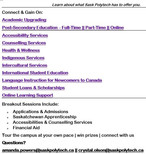 Sask Polytech Information Night - Oct 18th - Image 1