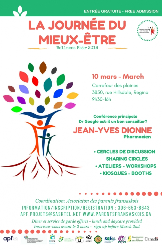 Special event in French on Saturday March 10 -  Horaire de La journée du mieux-être 2018