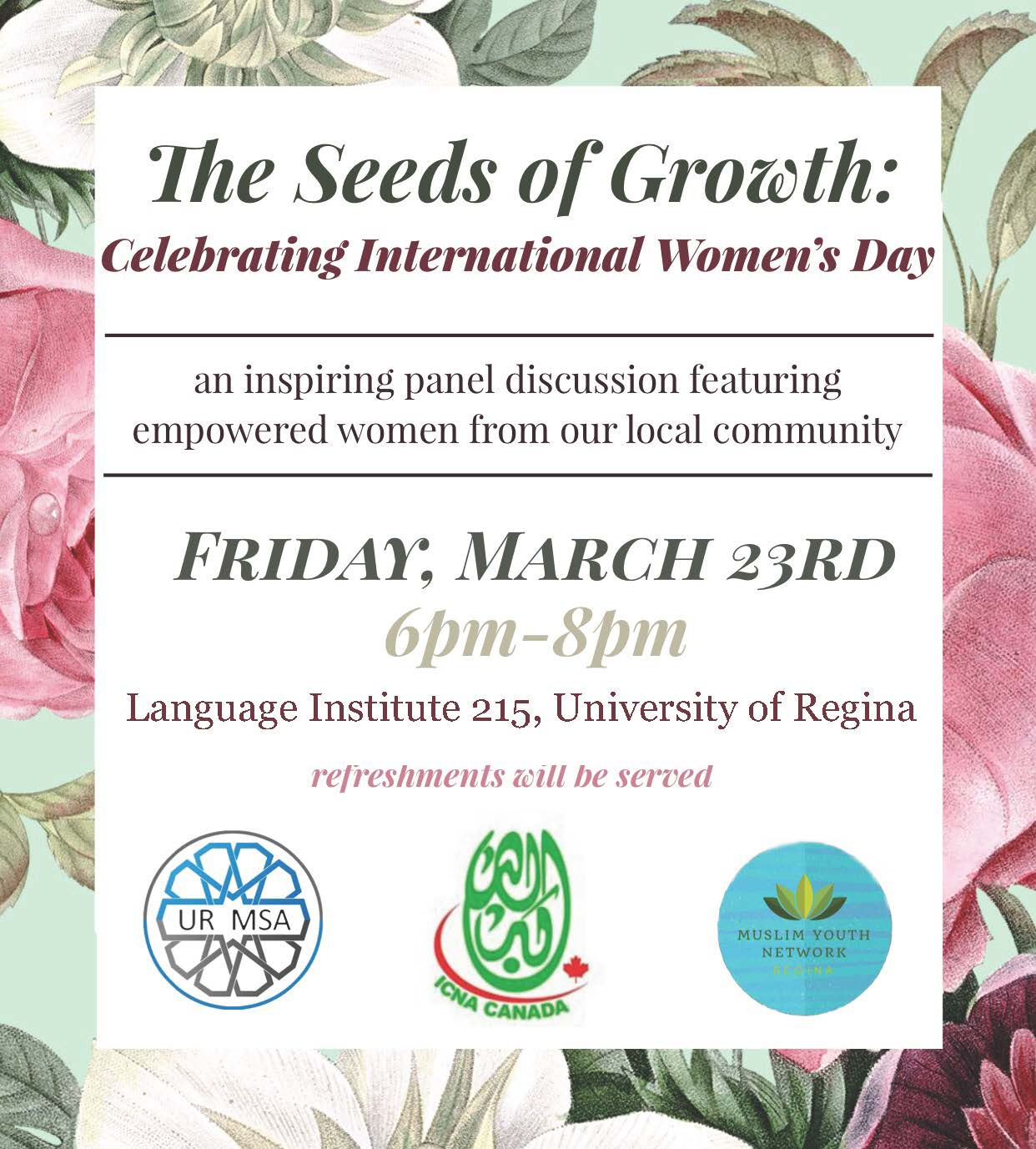 The Seeds of Growth Event celebrating International Women's Day.  A project of the ICNA for empowering Youth - Image 1