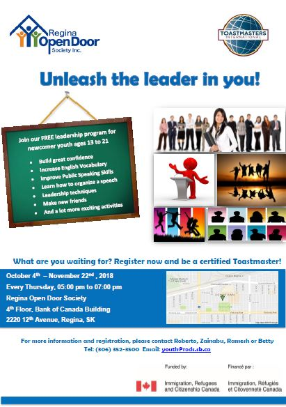 Toastmasters Youth Leadership Program - Starting Thursday, Oct 4th - Image 1