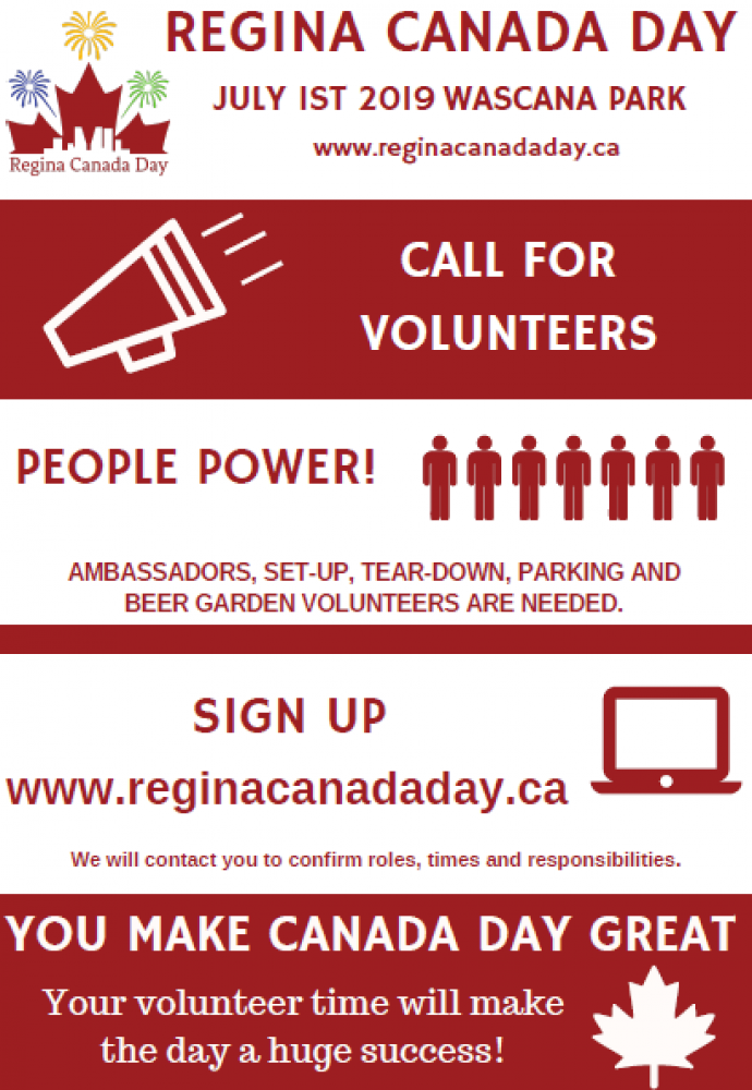 Volunteers Needed for Canada Day Events