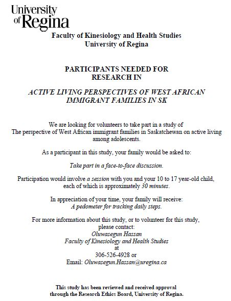 West African Immigrant Families Needed for UR Research Study - Image 1