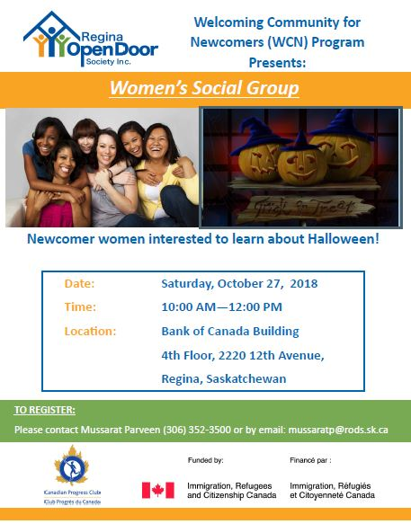 Women's Social Group - Oct 27th  - Image 1