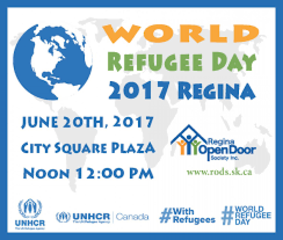 World Refugee Day Regina - Tuesday June 20th, 2017 - City Plaza