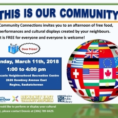 Celebrate Your Community!  March 11th at Glencairn Neighbourhood Rec Centre