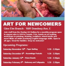 Free Art Program for Newcomers