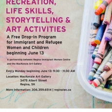 Free Drop-In Program! For Women and Children! Mondays at the MacKenzie Art Gallery!