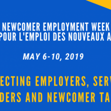 Newcomer Employment Week Activities Calendar - Available Now!