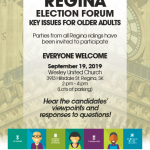 Discuss Major Issues for Older Adults, with Electoral Candidates