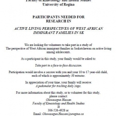 West African Immigrant Families Needed for UR Research Study