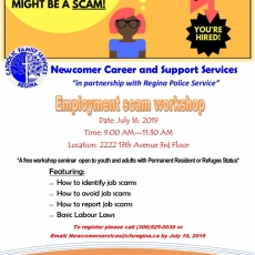 Free Employment Workshop - July 16th - CANCELLED