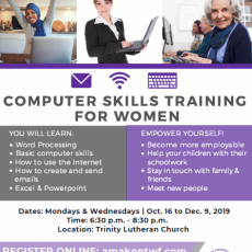 Free Computer Skills Training for Women - Starting Oct. 16th