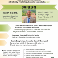 Bilingual French/English Conference at the Univ. of Regina - Oct 11 - Free event!