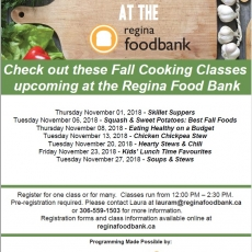 Free Cooking Classes - at the Regina Food Bank