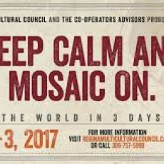 Mosaic 2017! A Festival of Cultures! June 1-3.