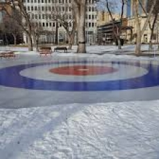 Crockicurl in Victoria Park - free fun to promote the Winter Olympics, the upcoming Brier - and Saskatchewan's official sport!