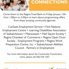 'Making Community Connections'  Event  - at the Regina Food Bank