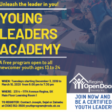 Program for Newcomer Youth - Leaders Academy - Starting Dec 3rd