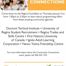 'Community Connections' Event at Regina Food Bank