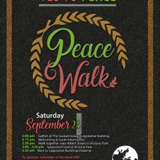 Peace Walk - Sept 23 at 2pm, starting at the Legislative Buildings.  Join the ICNA Sisters.