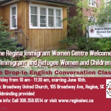 Regina Immigrant Women Centre class!  Free English Conversation!  Child-minding Provided!
