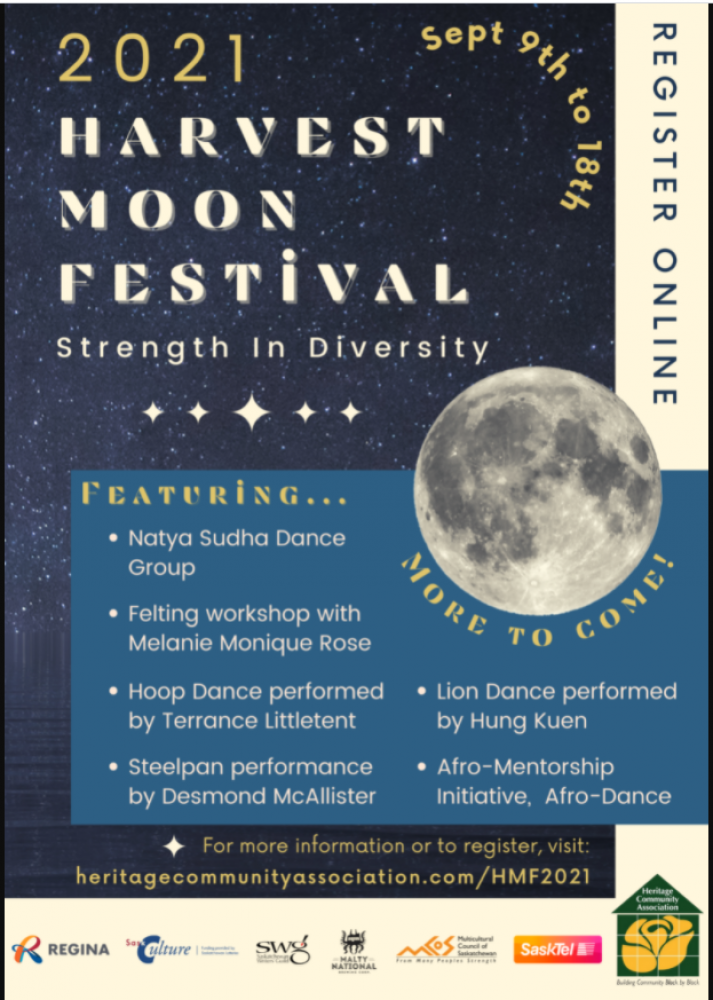 2021 Harvest Moon Festival.  Join the Online and (limited) In-person Celebrations!  'Strength in Diversity' theme.  Registration Required.  Activities Sept 10 - 18.