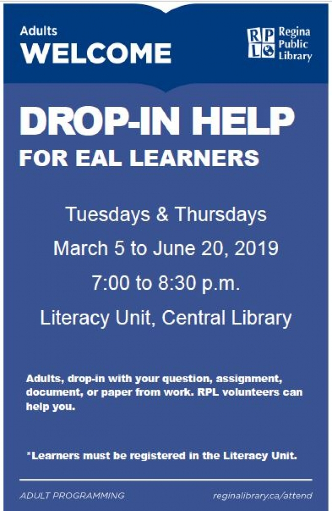 Drop-In Help for Adults Learning English