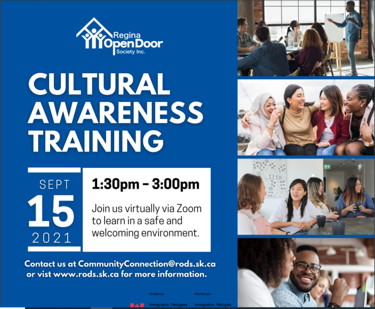 Free Cultural Awareness Training - Sept 15!  Register now!