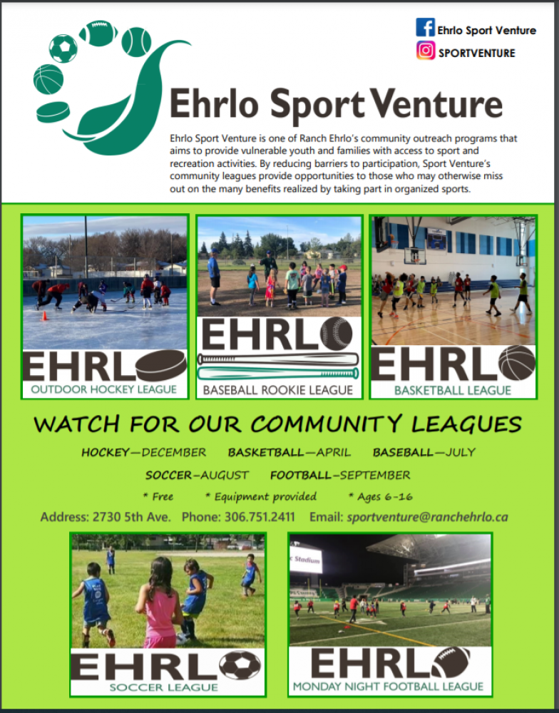 FREE - Football Registration!  And a Sports Equipment Lending Library - Ehrlo Sports Venture
