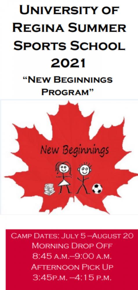 Free Summer Program for Newcomer Children at the University of Regina