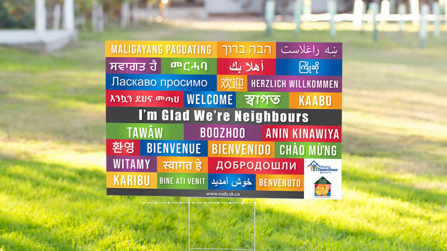 """""""I'm Glad We Are Neighbours""""  Welcome Signs are Back in Regina!"""